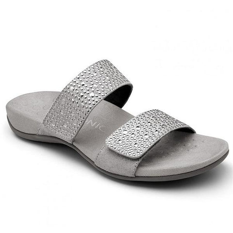 Samoa Slide Sandal in Pewter