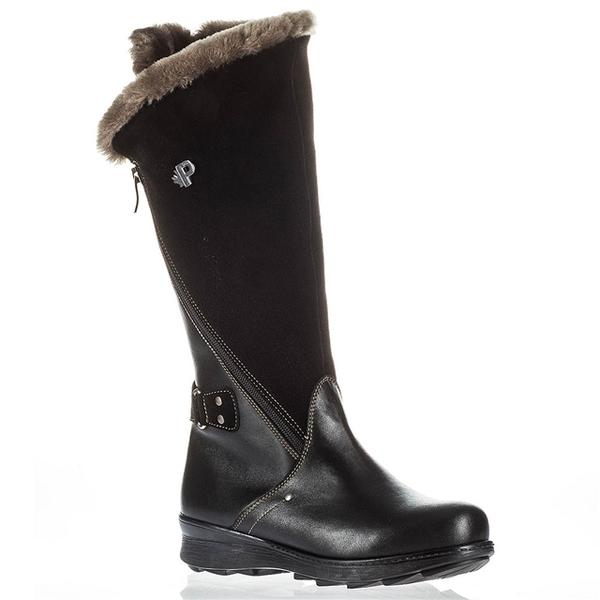 Pajar London Waterproof Boot in Black Leather/Nubuck at Mar-Lou Shoes