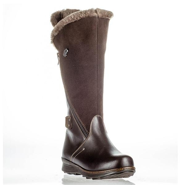 London Waterproof Boot in Dark Brown Leather/Nubuck
