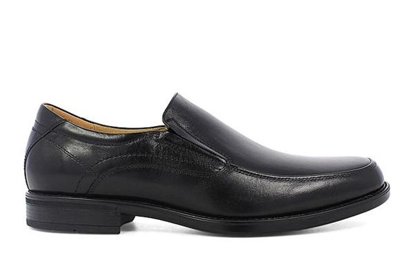 Midtown Moc Toe Oxford in Black Smooth Leather