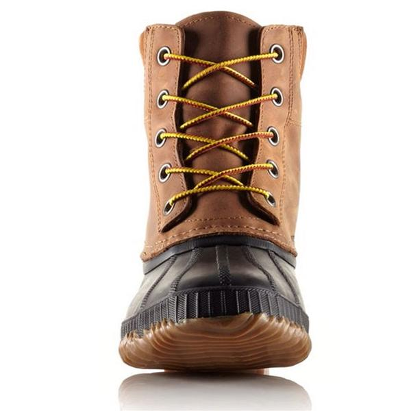 Sorel Cheyanne Lace-up Waterproof Boot in Chipmunk at Mar-Lou Shoes