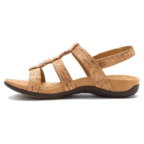 Amber Sandal in Gold Cork