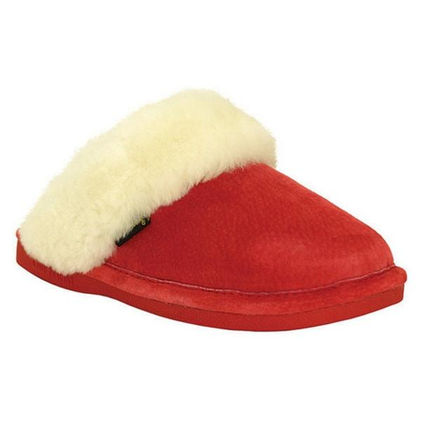 Scuff Slipper in Red Sheepskin