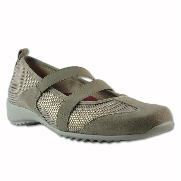 Zip Casual Shoe in Taupe Combo
