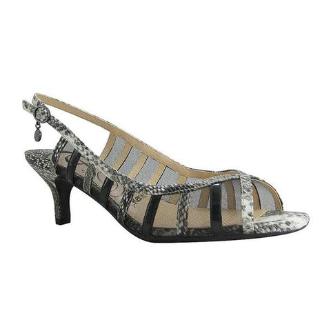 Rebeca in Black/White Snakeskin Leather