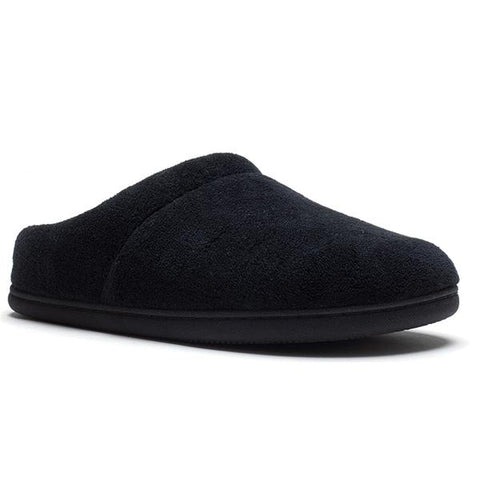 Windsock Slipper in Black Terrycloth