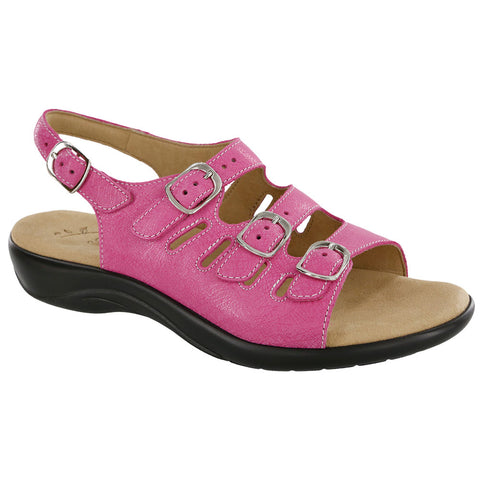 SAS Mystic Sandal Web Pink Leather at Mar-Lou Shoes