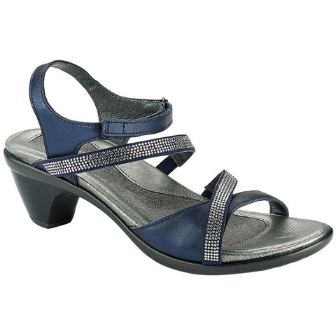 Innovate Sandal in Polar Sea/Navy with Rhinestones