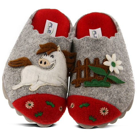 Prancer Slipper in Grey