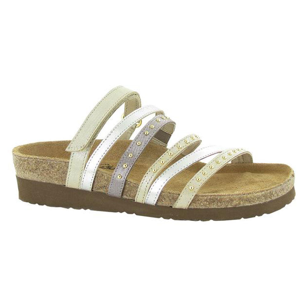 Prescott Leather Sandal in Gold/Silver