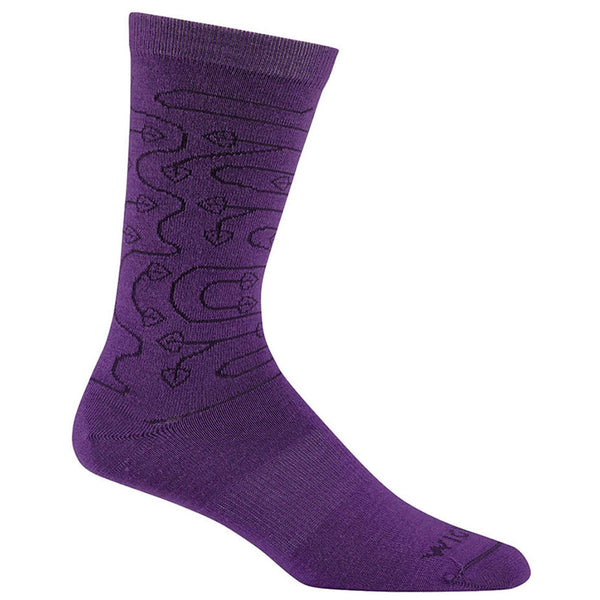 Women's D'Ivy Crew Socks in Royal Purple