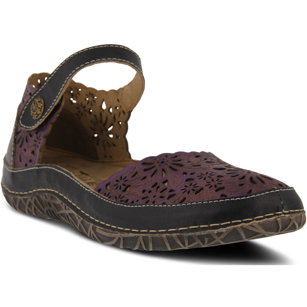 Kysandra Sandal in Purple Multi