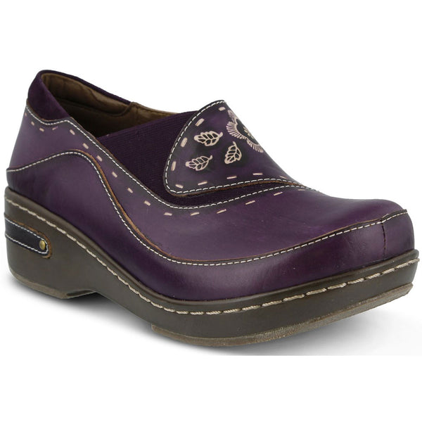 Burbank in Purple Leather