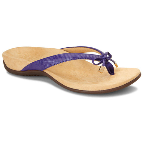 Bella II Sandal in Purple Lizard