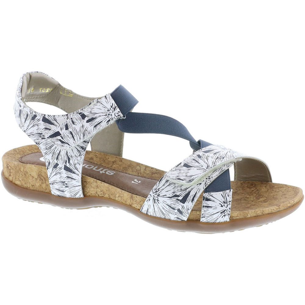 R3257 Sandal in White/Blue