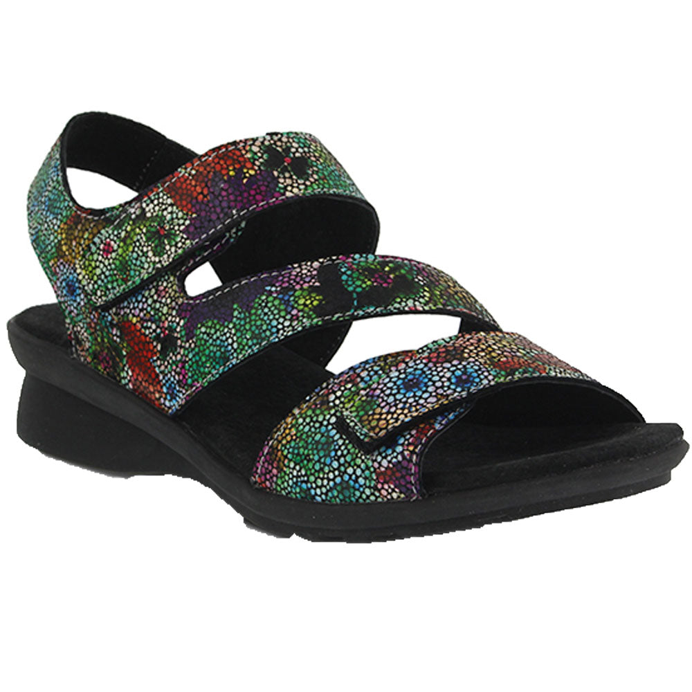 d2369bffb6e8 Nadezhda Sandal in Rainbow Multi Leather Found at Mar-Lou Shoes in ...