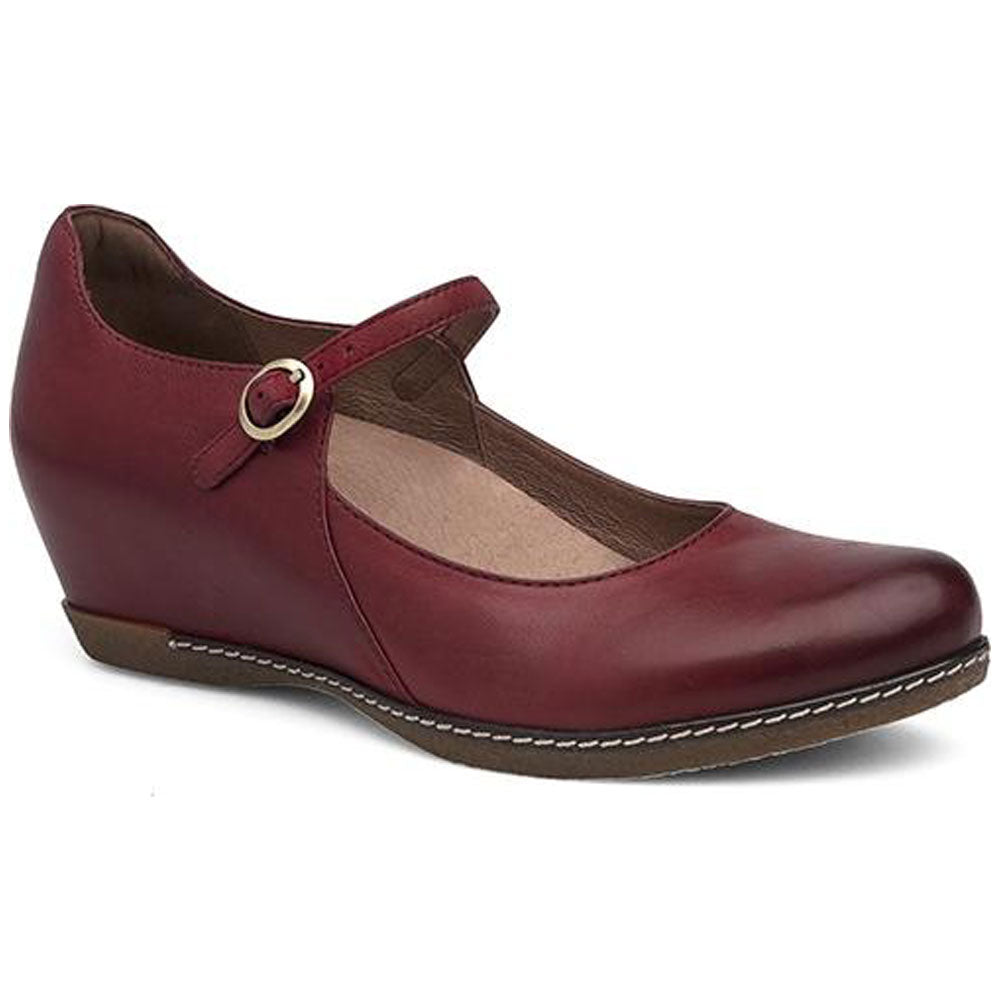 Loralie Mary Jane in Red Burnished Nubuck