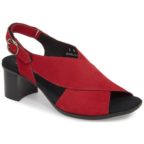 Laine Sandal in Red Nubuck