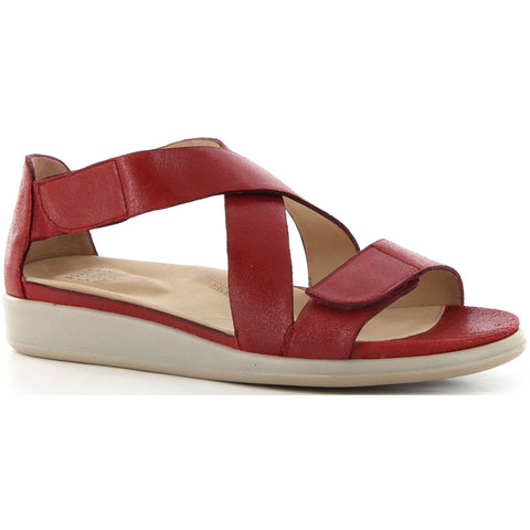 Ziera Innes Sandal in Cherry Red Leather Found at Mar-Lou Shoes