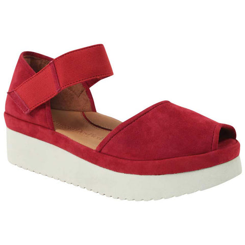 Amadour Sandal in Red Suede