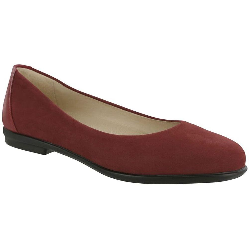 SAS Scenic Flat in Scarlet Red Leather at Mar-Lou Shoes