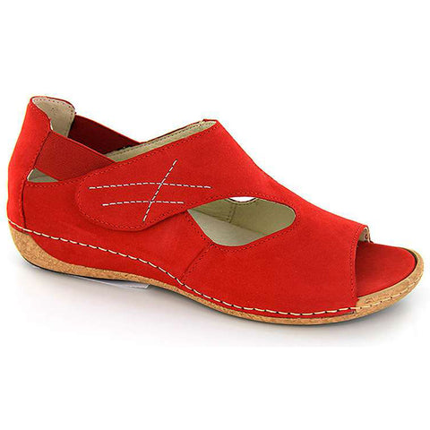 Bailey Sandal in Red Nubuck