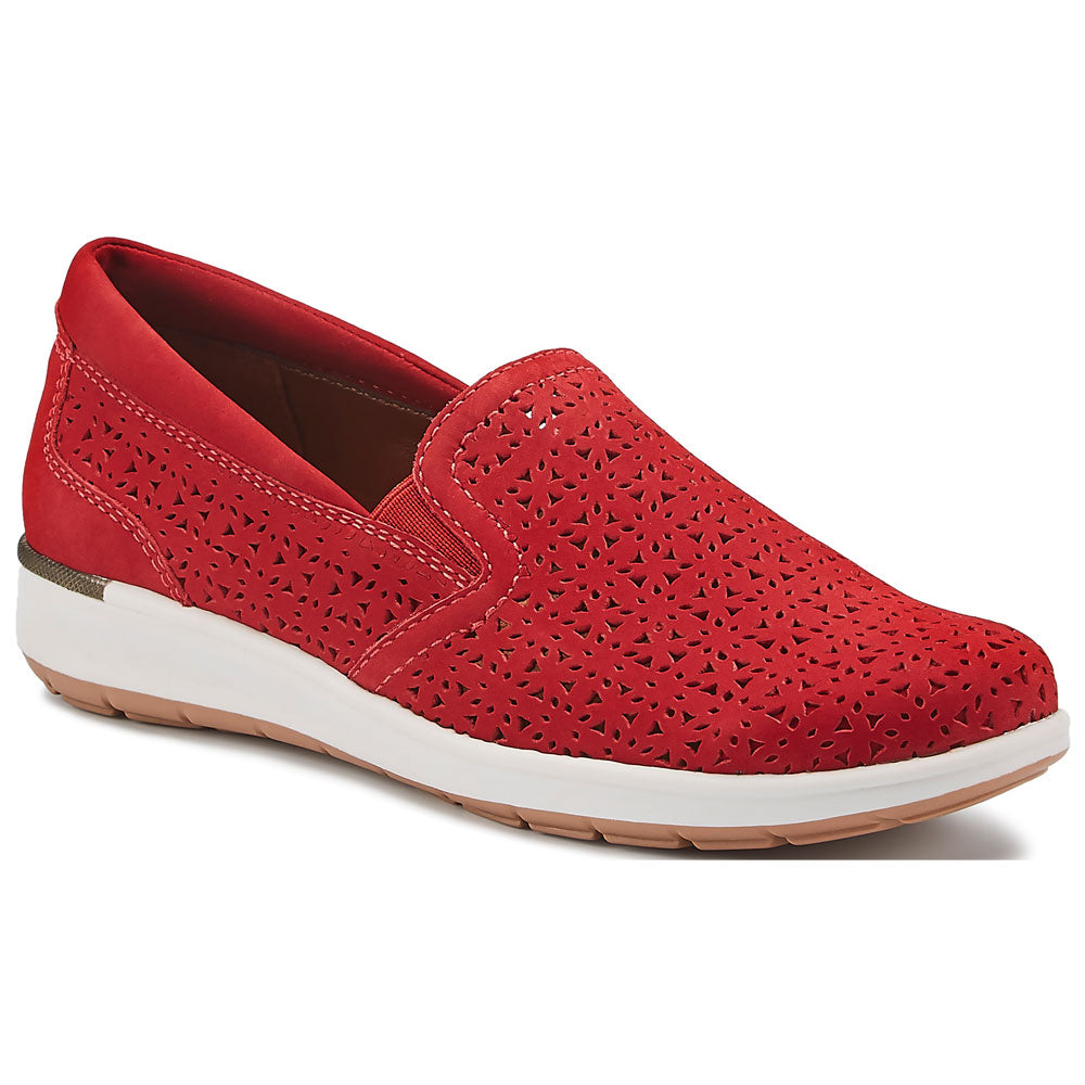Orleans in Red Perfed Nubuck