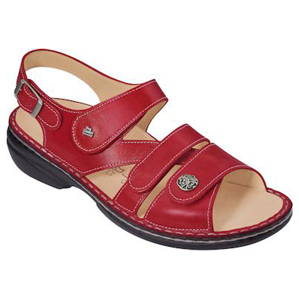 Gomera Sandal in Red Nappa