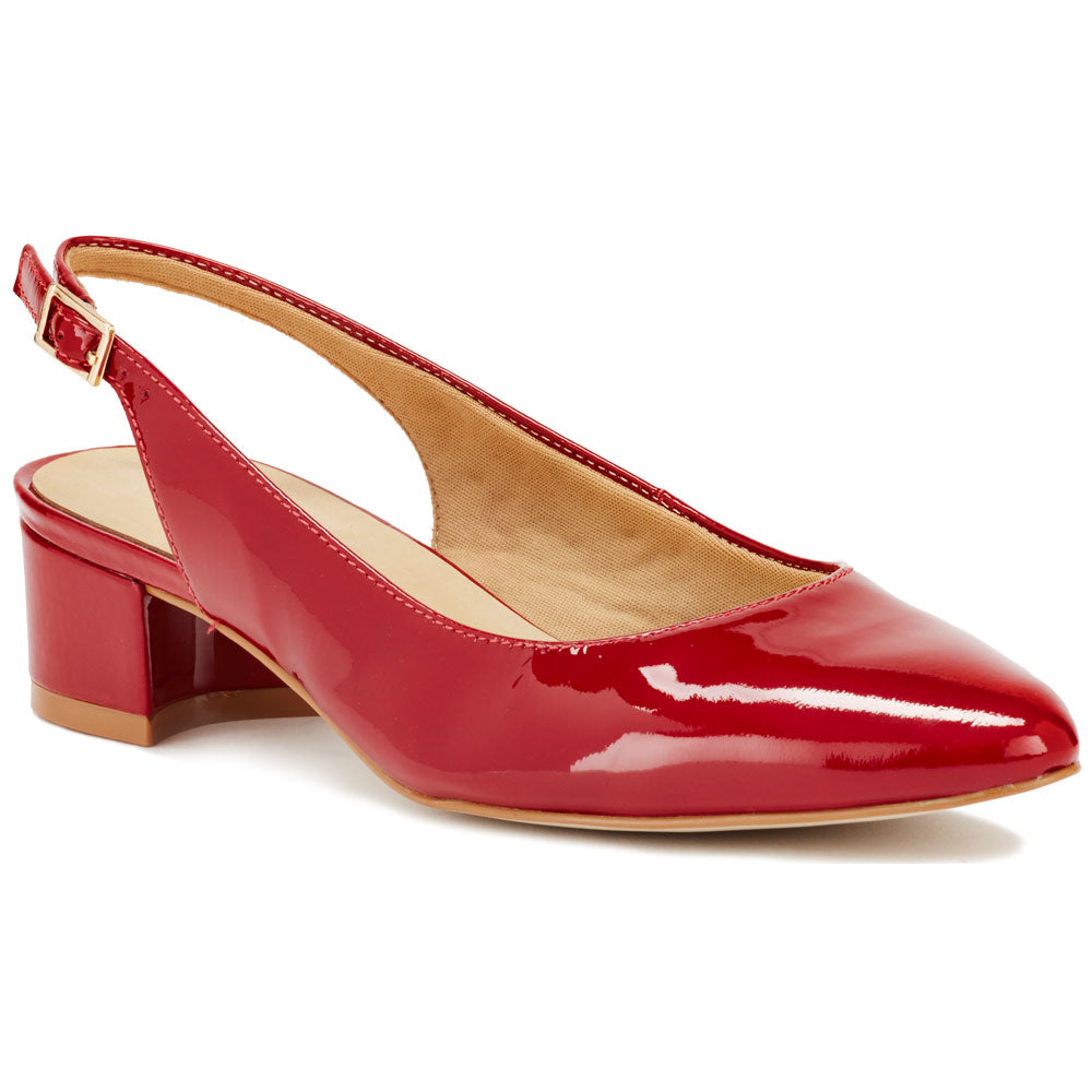 Hazel in Red Patent