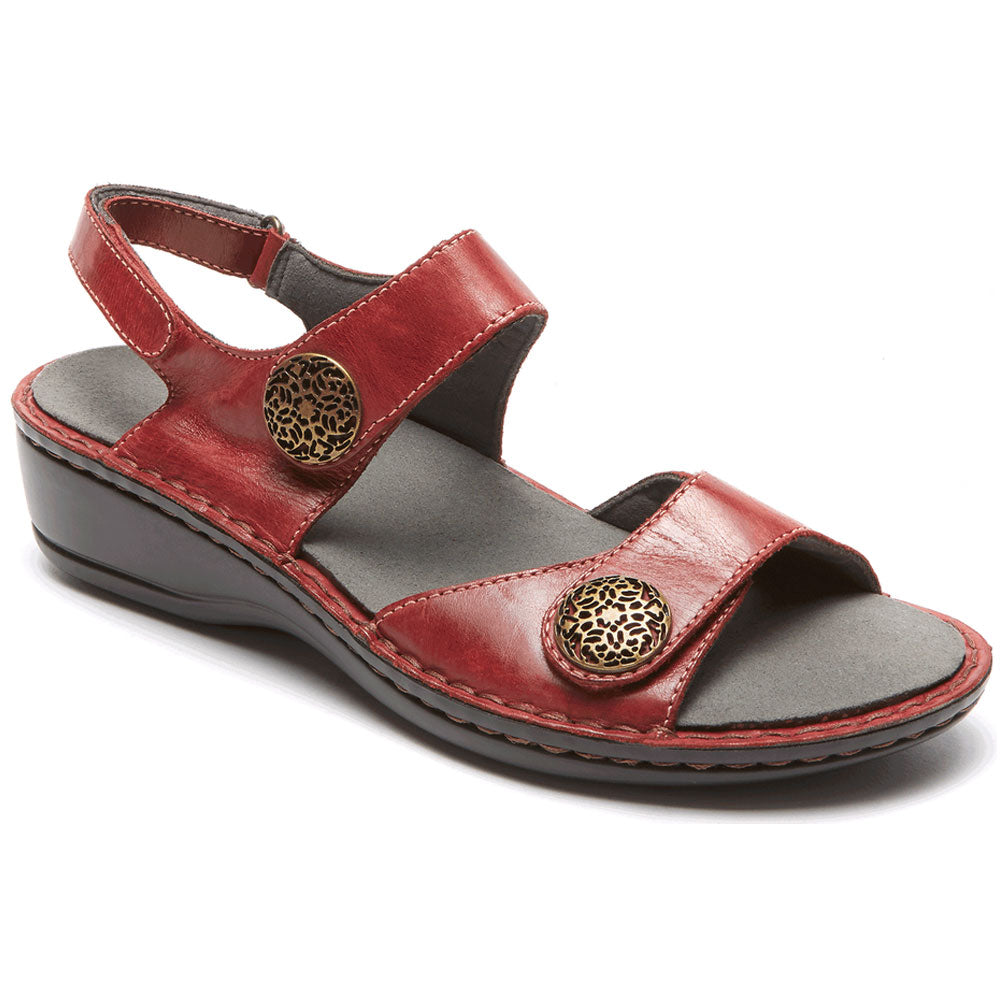 Candace Sandal in Dark Red