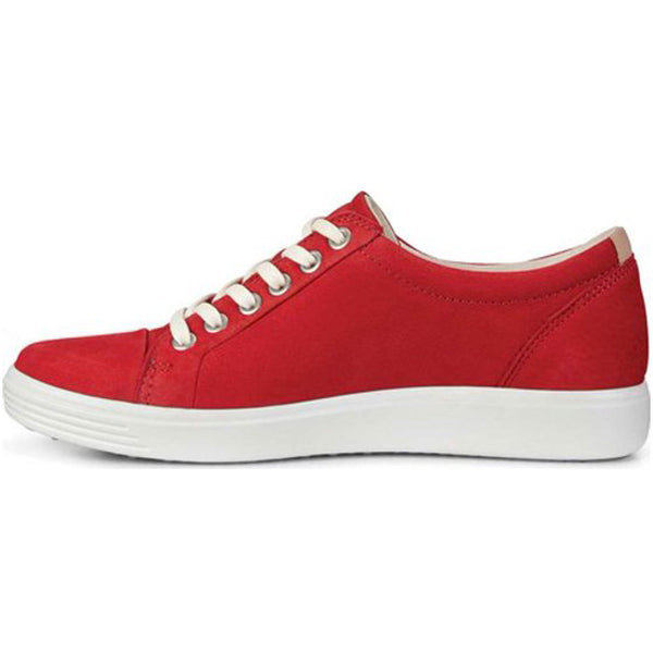 ECCO Soft 7 Sneaker in Chili Red Suede from Mar-Lou Shoes