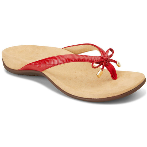 Bella II Sandal in Red Lizard
