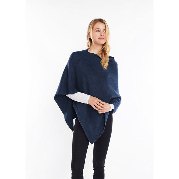 Look by M Basic Cashmere Blend Poncho in Riverside at Mar-Lou Shoes