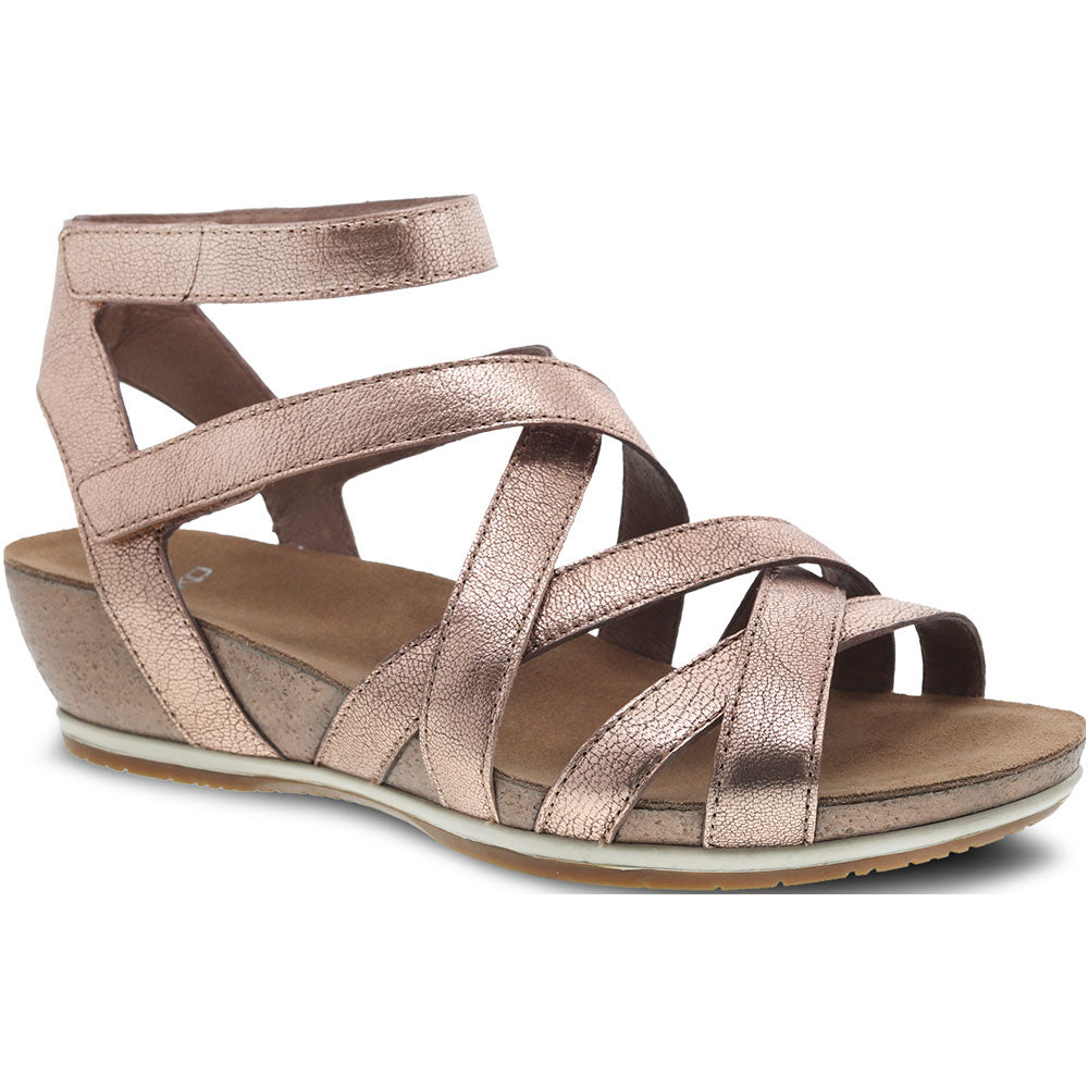 Veruca Sandal in Rose Gold Nappa Leather