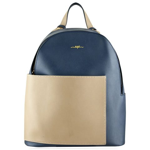 Sallie Backpack in Blue/Camel