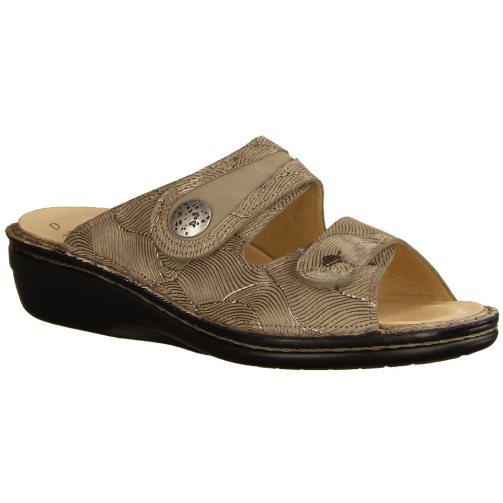 Mira Sandal in Sand/Rock Leather