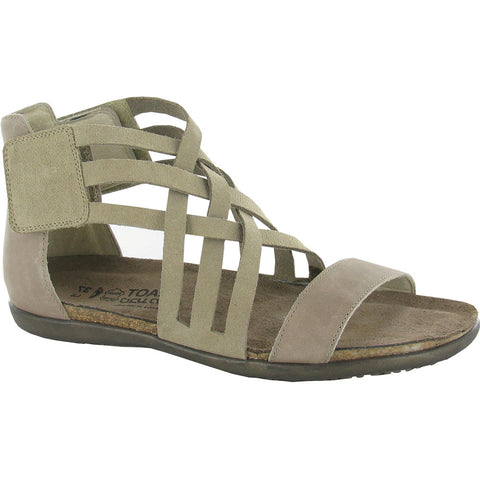 Marita Sandal in Sand Suede/Khaki Beige Leather