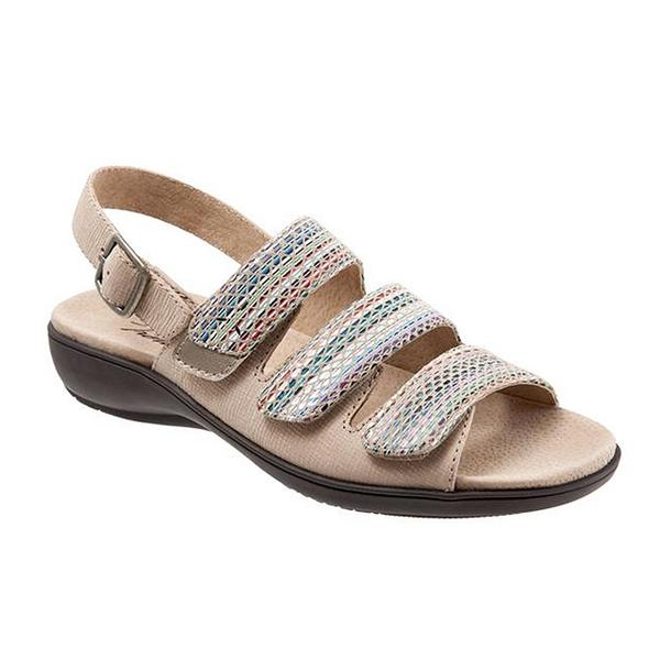 Kendra Sandal in Sand Multi Leather