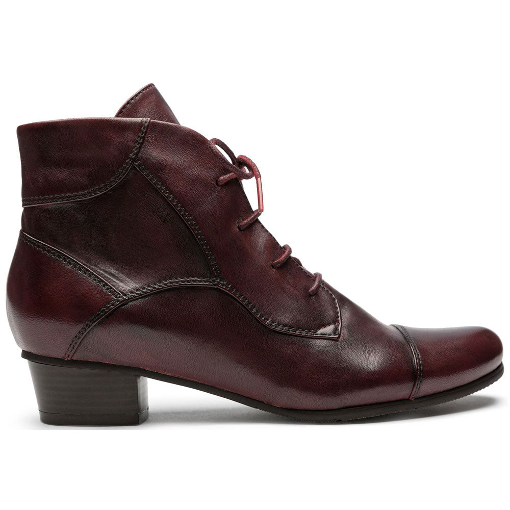 Stefany 123 Booties in Sangria Leather