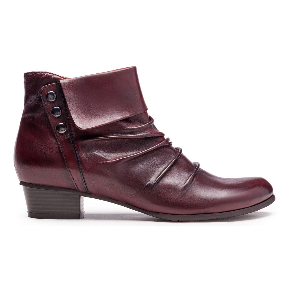 Stefany 278 Bootie in Sangria Leather