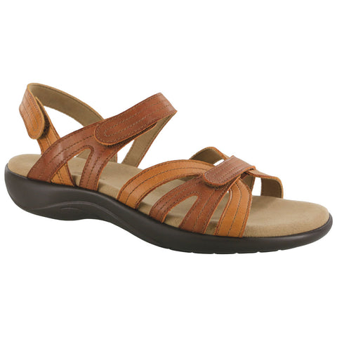SAS Pier Sandal in Sepia Tan Leather at Mar-Lou Shoes
