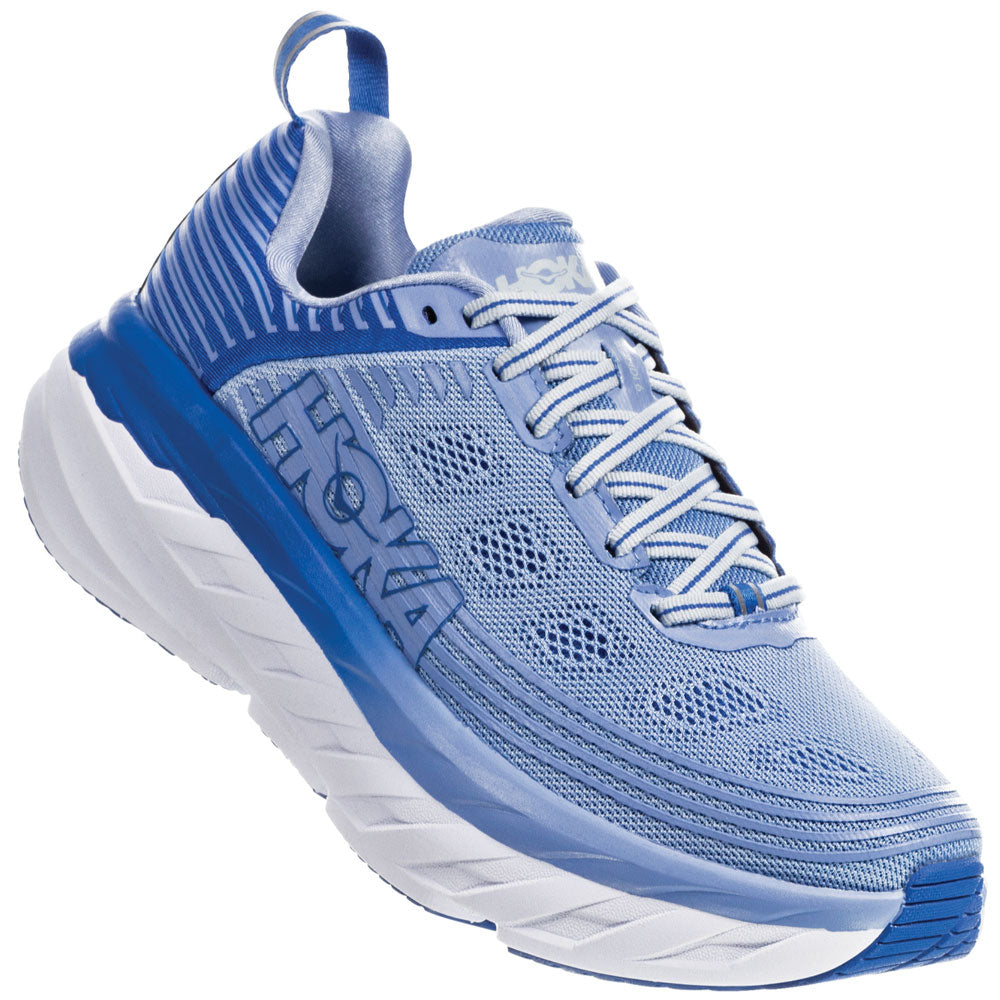 Women's Bondi 6 in Serenty/Palace Blue from HOKA found at Mar-Lou Shoes
