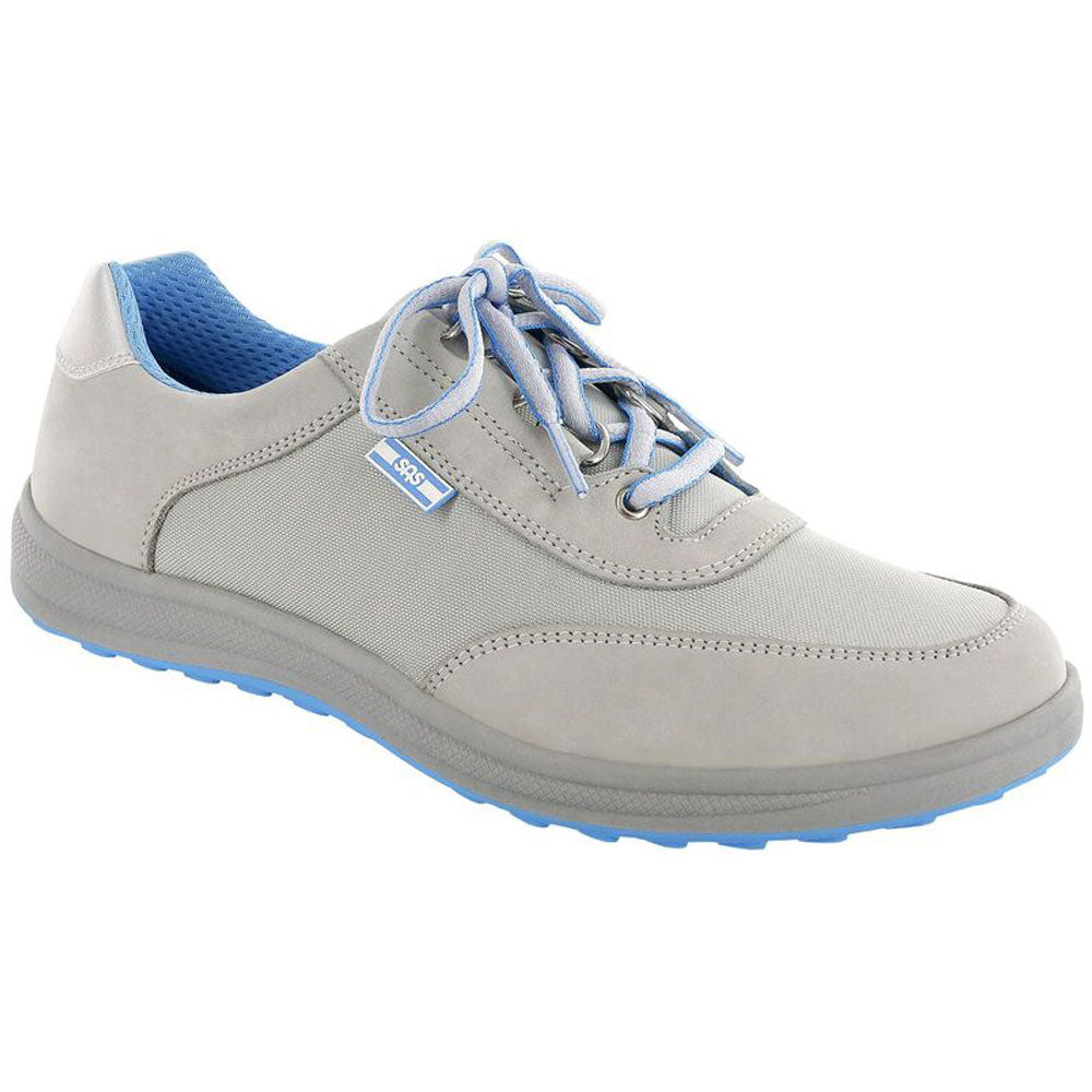 SAS Sporty in Silver Nubuck at Mar-Lou Shoes