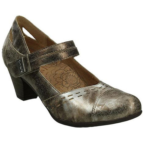Stunner Mary Jane Pump in Pewter Leather
