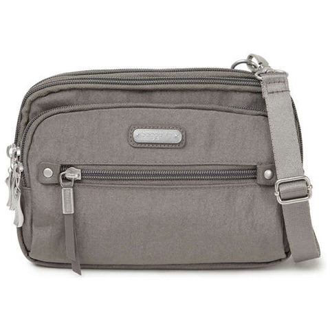 baggallini Time Zone RFID Crossbody Bag in Sterling Shimmer at Mar-Lou Shoes