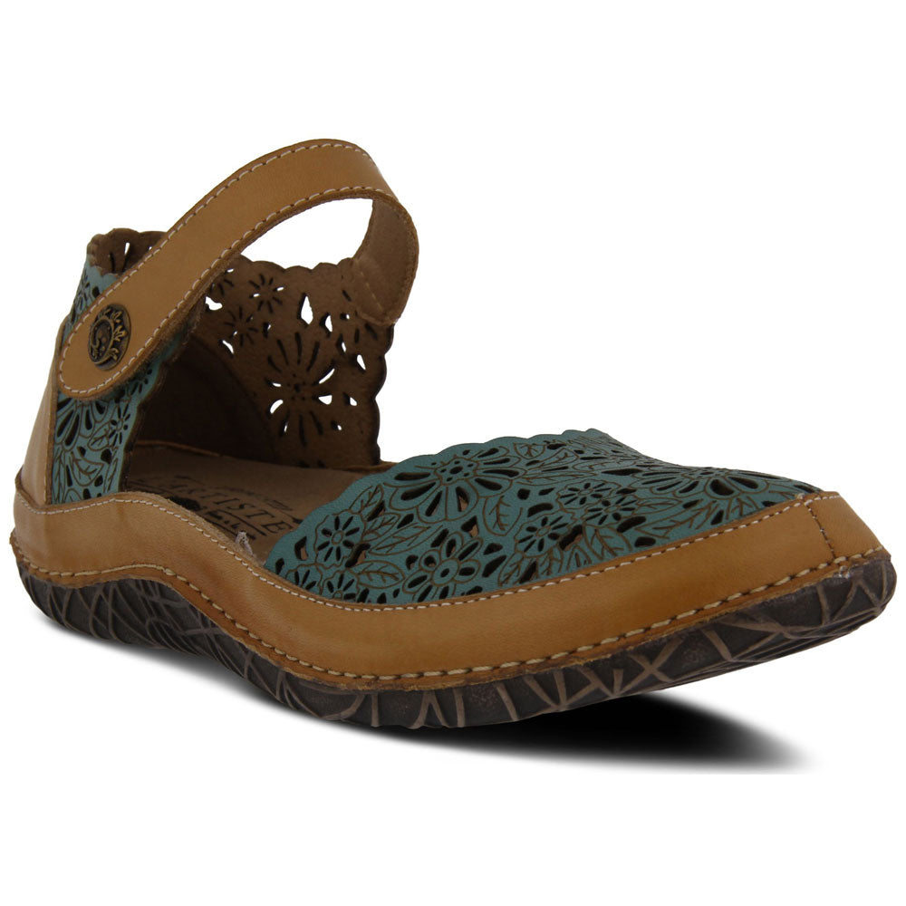 Kysandra Sandal in Sky Blue Multi