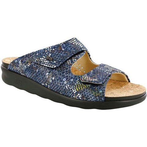 Cozy Sandal in Multi Snake Navy