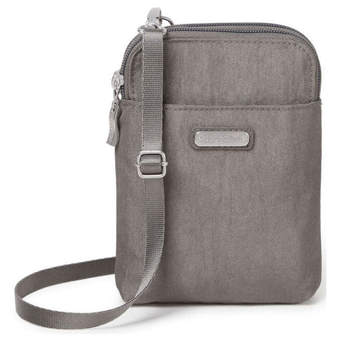 Baggallini Take Two RFID Bryant Crossbody in Sterling Shimmer at Mar-Lou Shoes