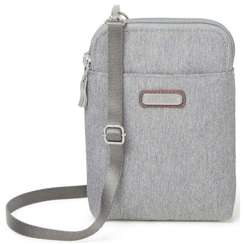 Baggallini Take Two RFID Bryant Crossbody in Stone at Mar-Lou Shoes