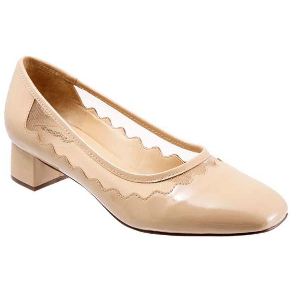 Trotters Lark Heel in Nude Patent at Mar-Lou Shoes